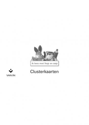 Ik lees met hup en aap clusterkaarten