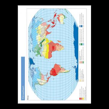 Werkkaarten klimaat, vegetatie (vouwblad)