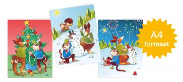 Ik lees met hup en aap nieuwjaarsbrieven (A4-formaat - set van 30)