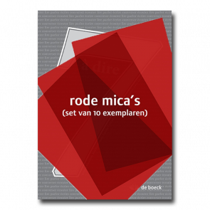 7 à dire - rode mica's (set van 10 exemplaren)
