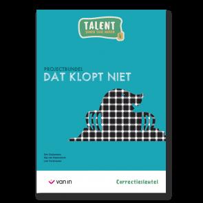Talent 4 - projectbundel 3 - Dat klopt niet! - correctiesleutel