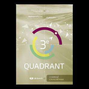 3e Quadrant (4 pér./sem.) - Corrigé et notes méthodologiques