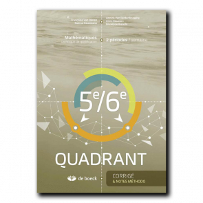 5e/6e Quadrant (2 pér./sem.) - Corrigé et notes méthodologiques