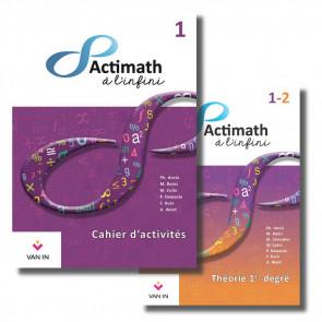 Actimath à l'infini - 1 - Pack : Cahier d'activités 1 + Théorie du 1er degré